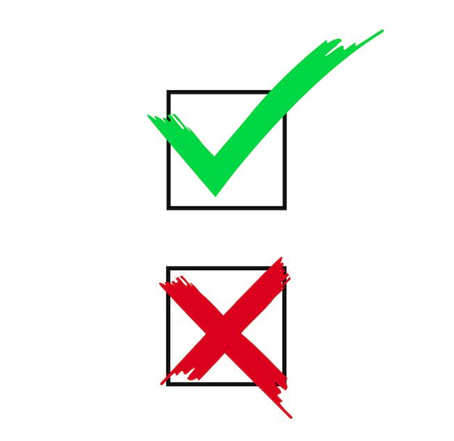 testing checkbox graphic