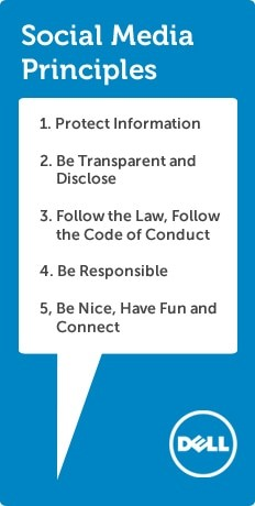 Dell's list of rules for social media