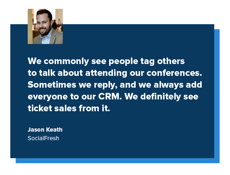 quote from jason keath of social fresh
