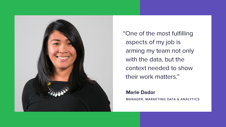 Meet Team Sprout: Marie, Manager, Marketing Data & Analytics | Sprout Social