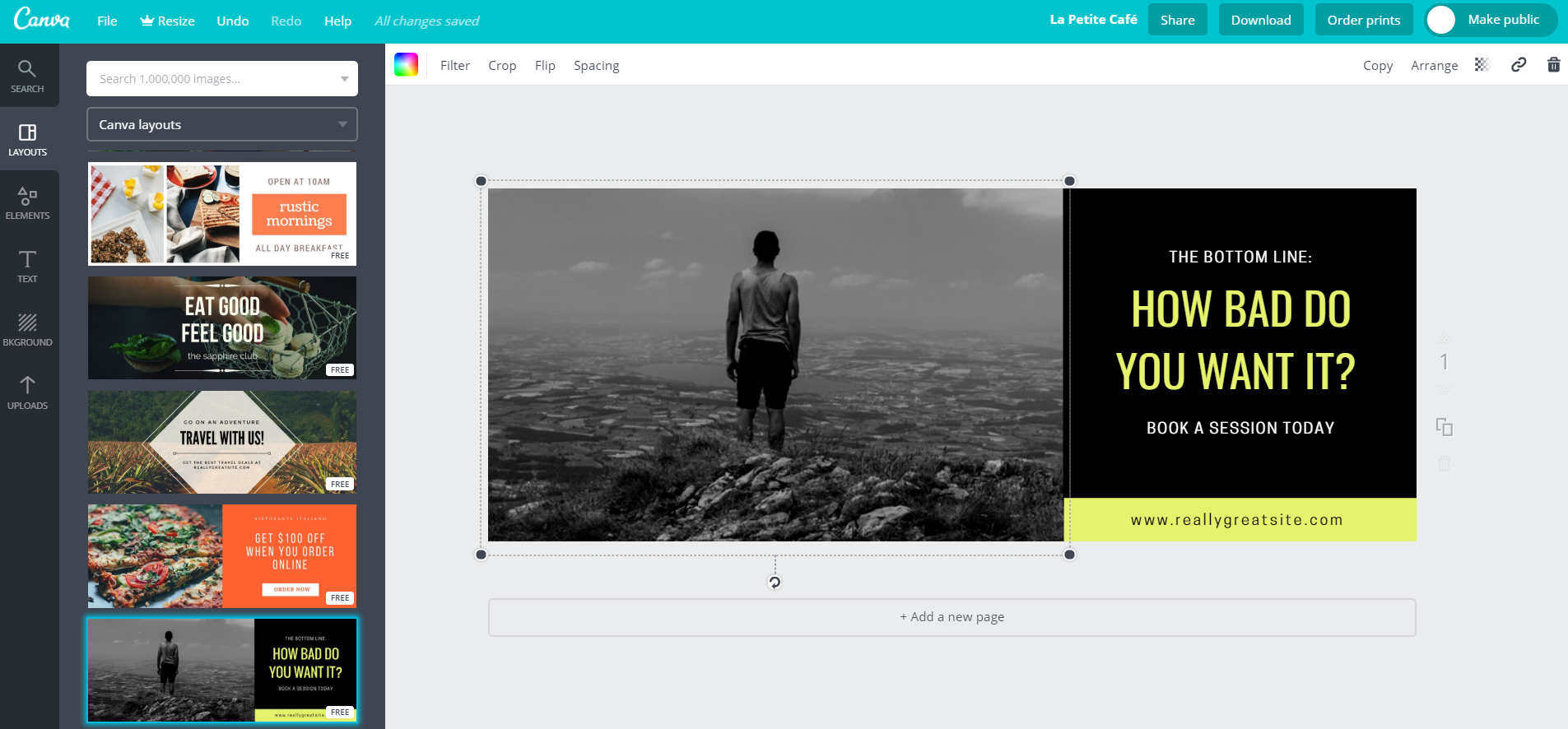 Tools like Canva allow you to whip up optimized social images in no time flat