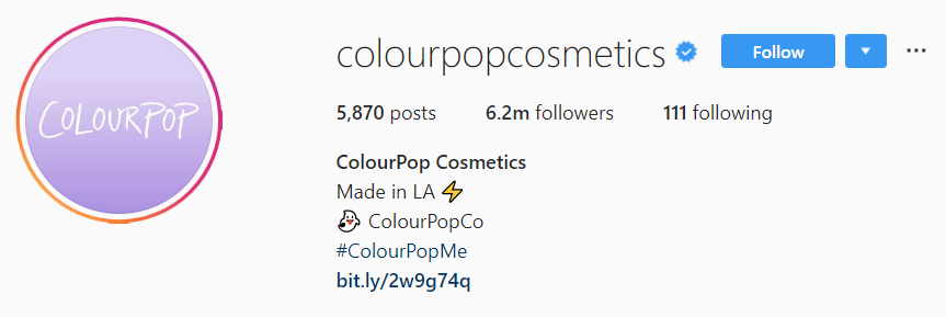 Your Instagram bio is the perfect place to promote your branded hashtag