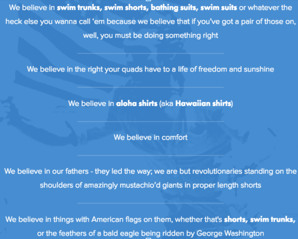 Chubbies homepage
