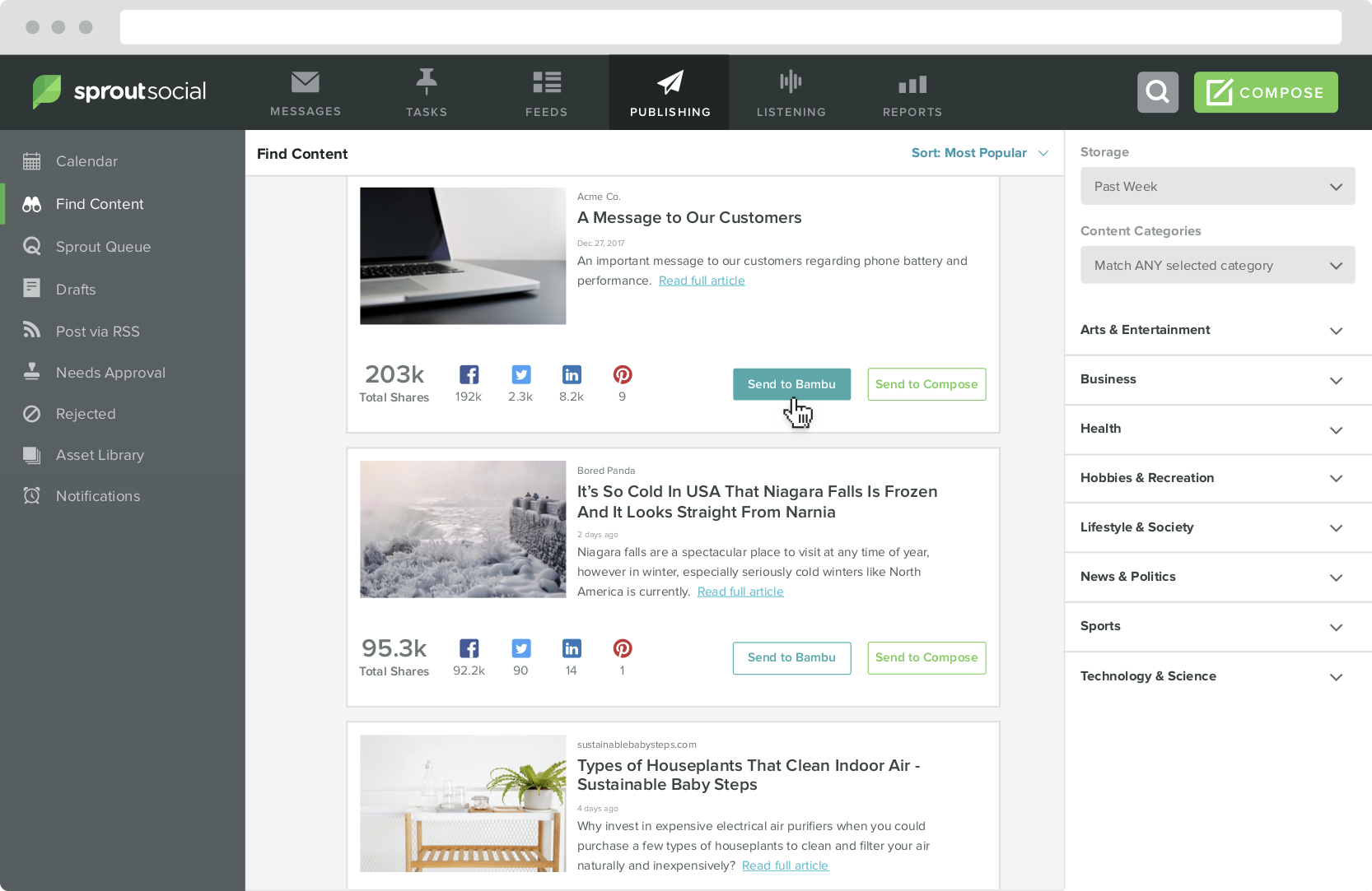 Your Social Profiles Simplify Your Workflow By Sourcing And Scheduling In One Place To Make Third Party Content Integral To Your End To End Strategy