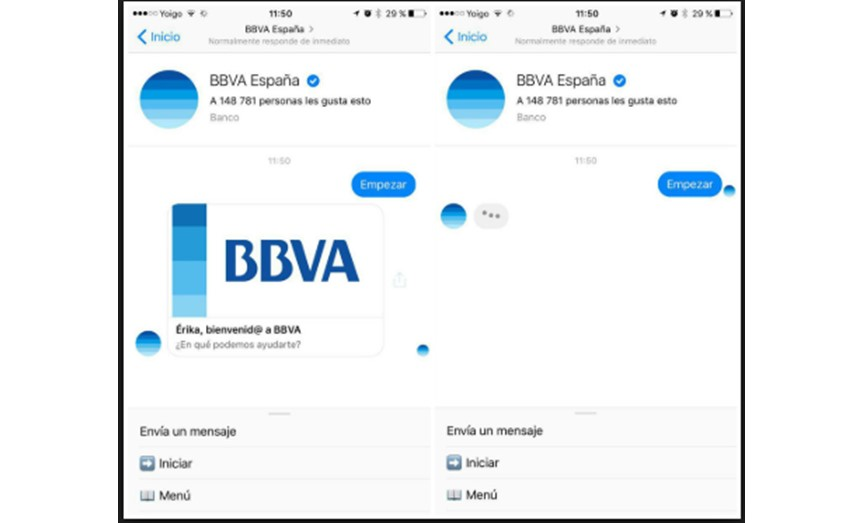 Chatbot de BBVA.