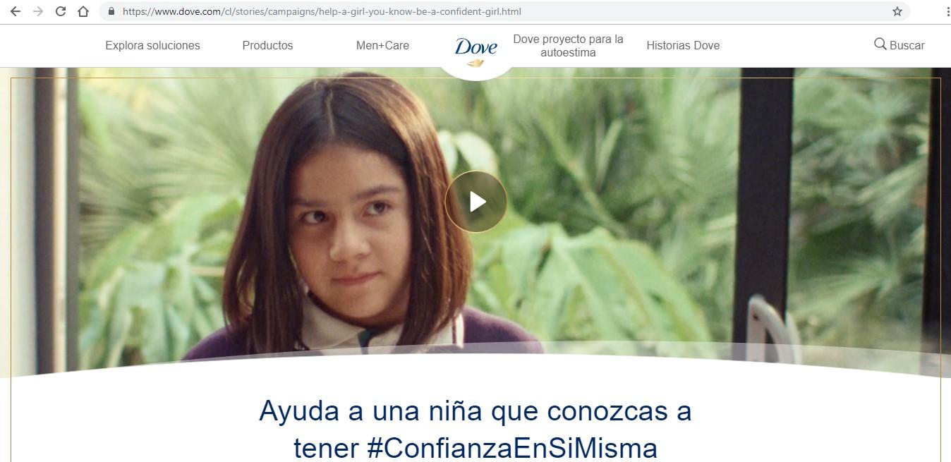 Página web de Dove.