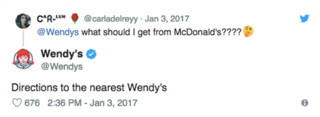 Wendys twitter example