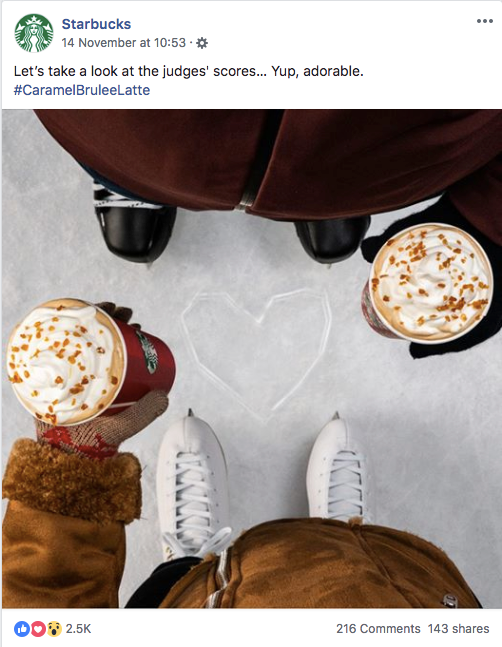 Facebook Starbucks photo