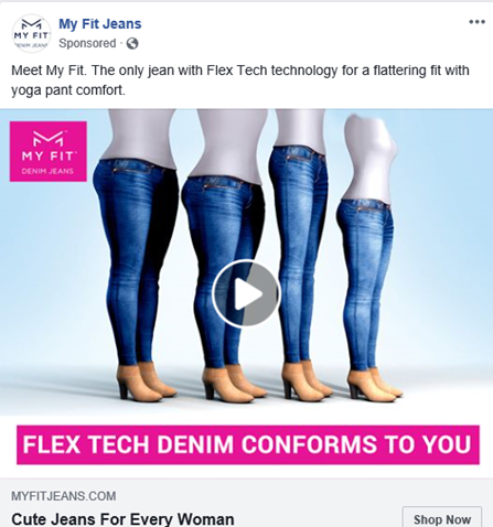 use compelling text in facebook ad images
