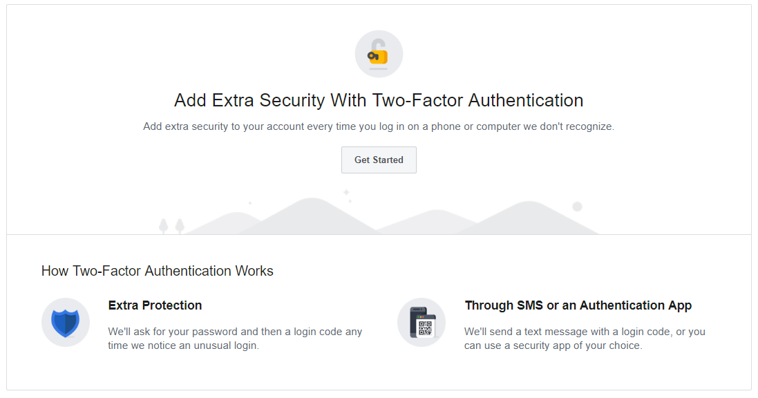two factor authentication on Facebook