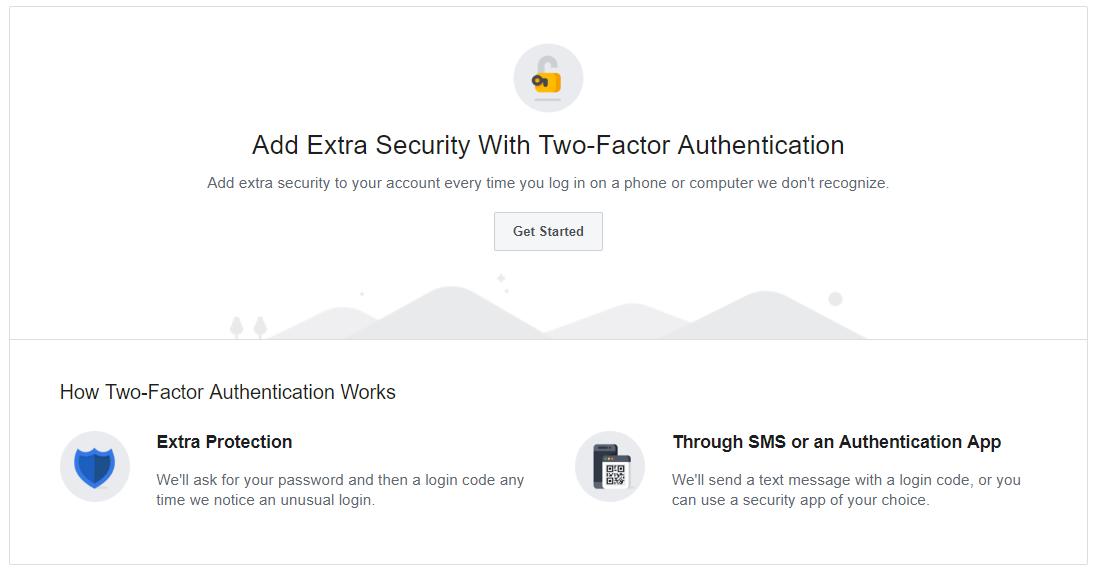 autenticación de dos factores en facebook