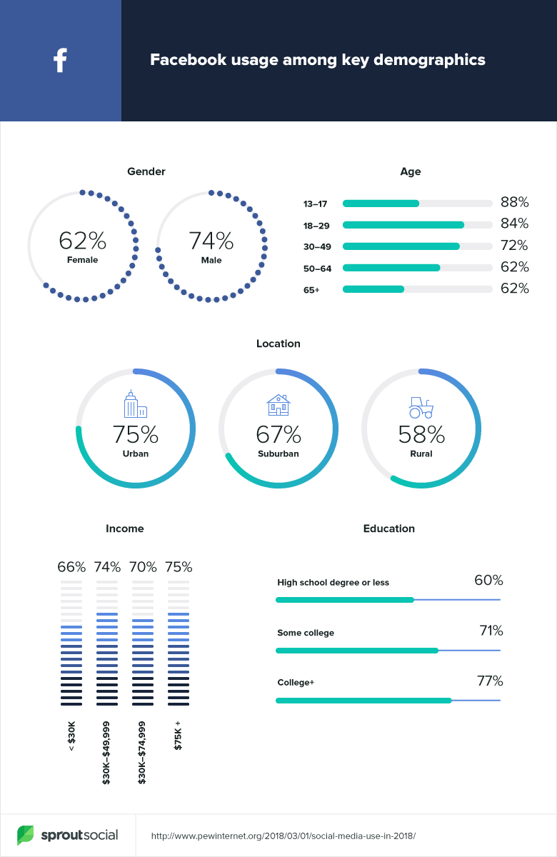facebook demographic data 2019