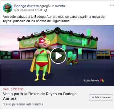 Publicación en Facebook de Bodega Aurrera en Mexico.