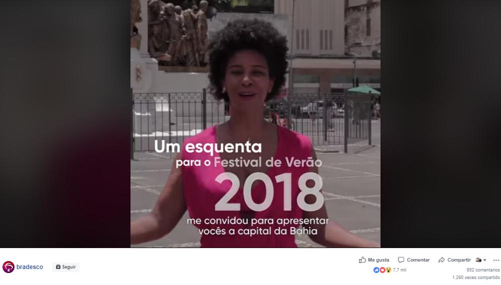 Anuncio de Festival musical creado por Bradesco en Facebook.