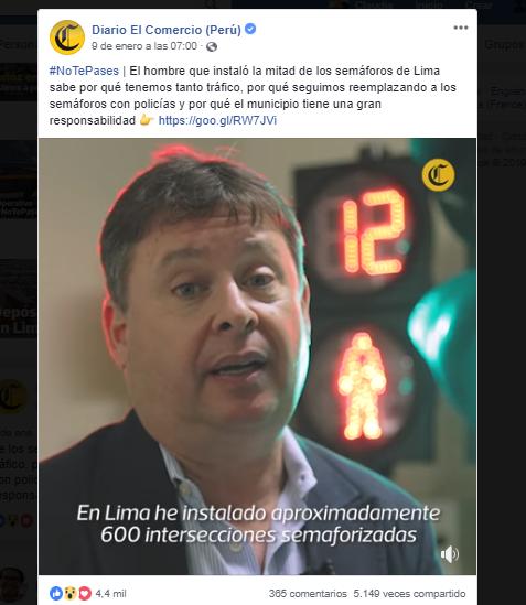 """Campaña """"No te pases"""" de El Comercio."""