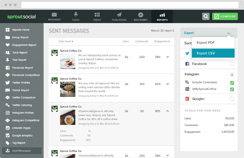 sprout social screenshot