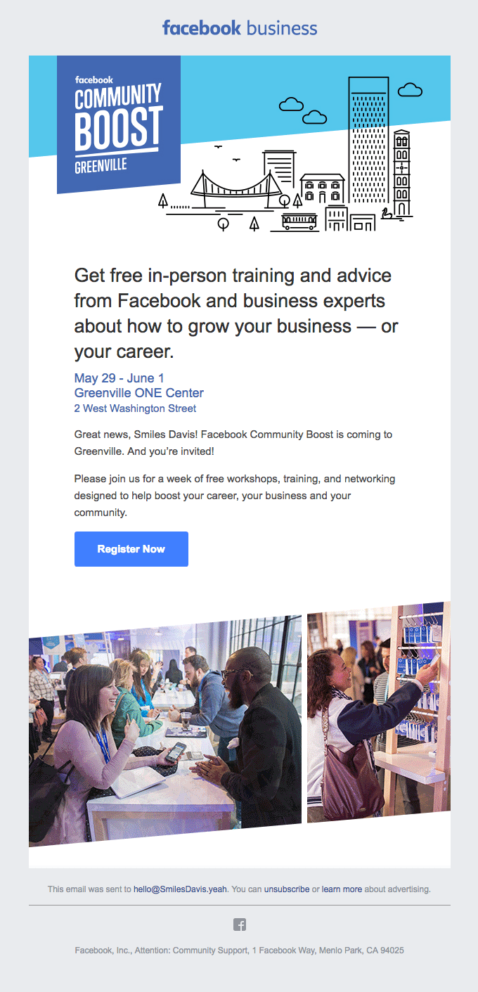 example of email from facebook