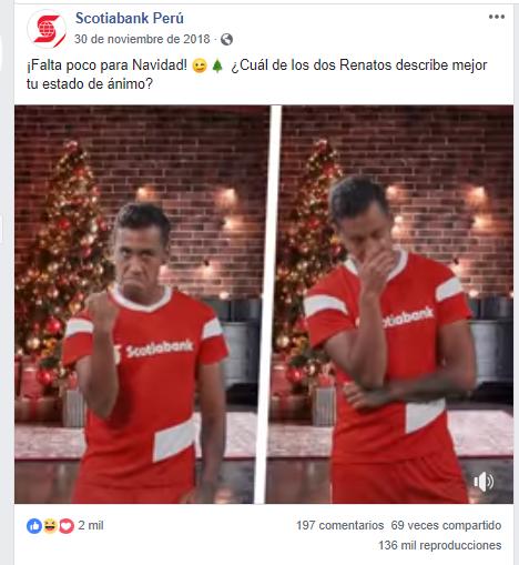 Publicación de Scotia Bank Perú.