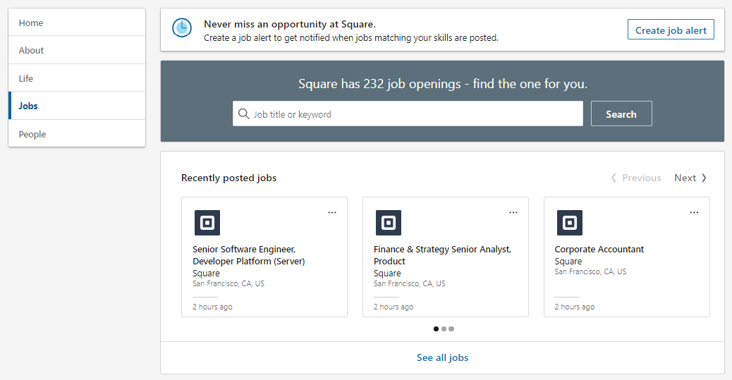 LinkedIn allows businesses to post job listings