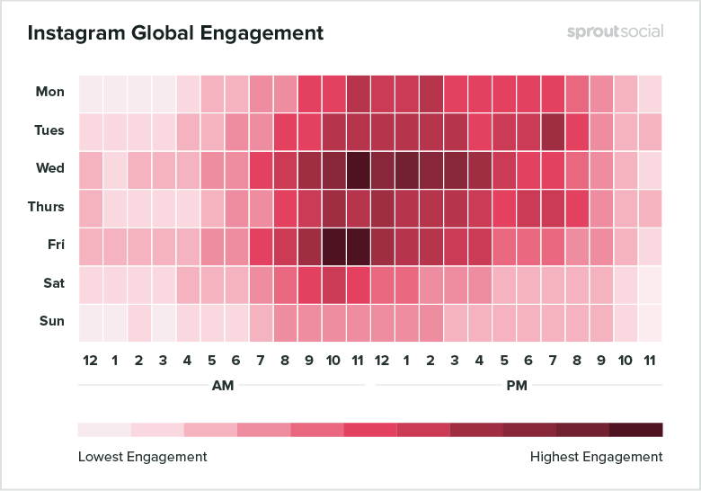 Instagram global engagement heat map