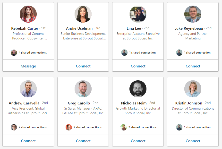 LinkedIn is great for social media for sales when it comes to finding individual employees to reach out to
