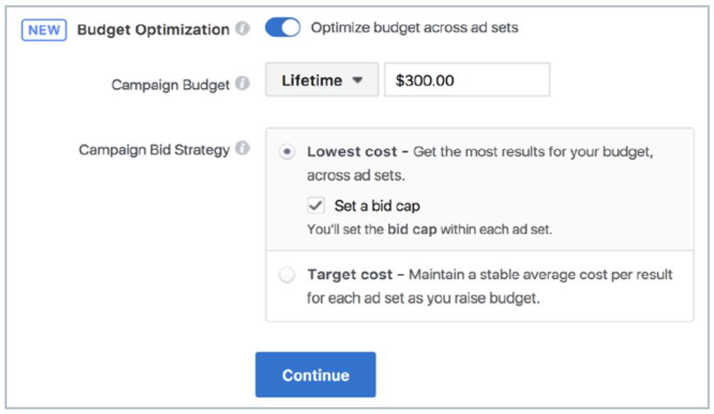 Facebook allows you to cap ad spending to help stay within a reasonable budget