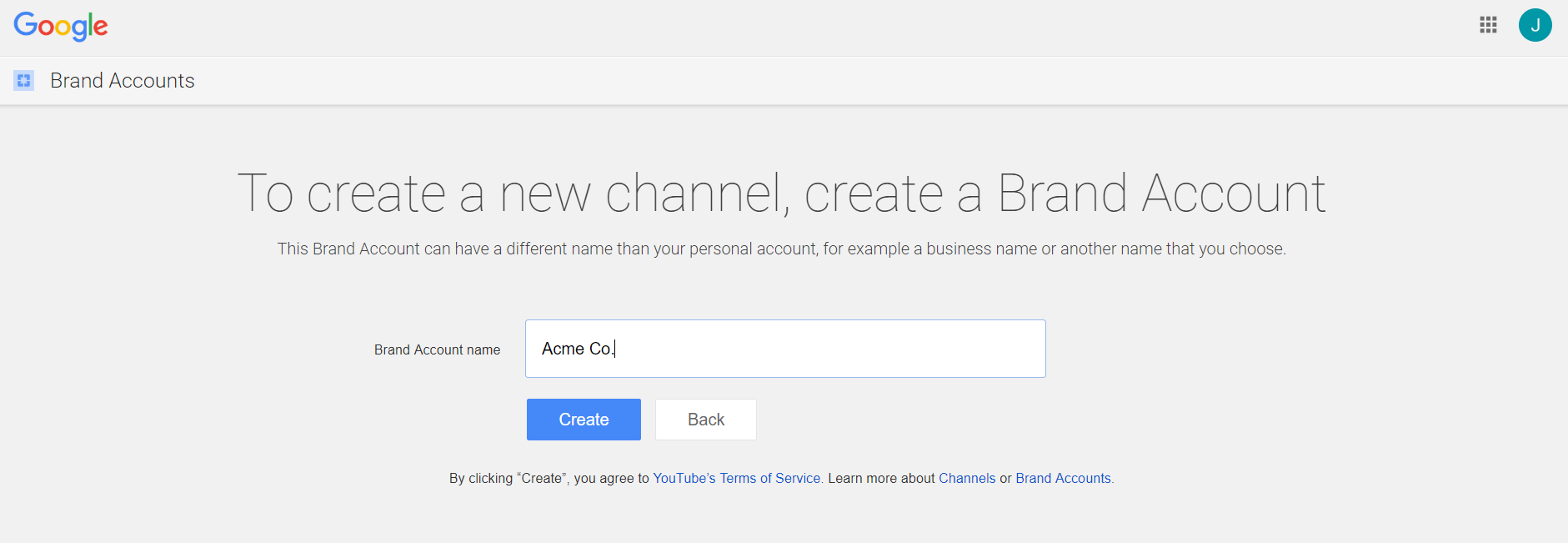 Here's how to create a YouTube brand account versus a personal one