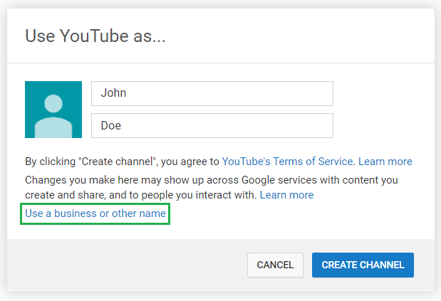 You can either operate a YouTube account under a personal account or business profile