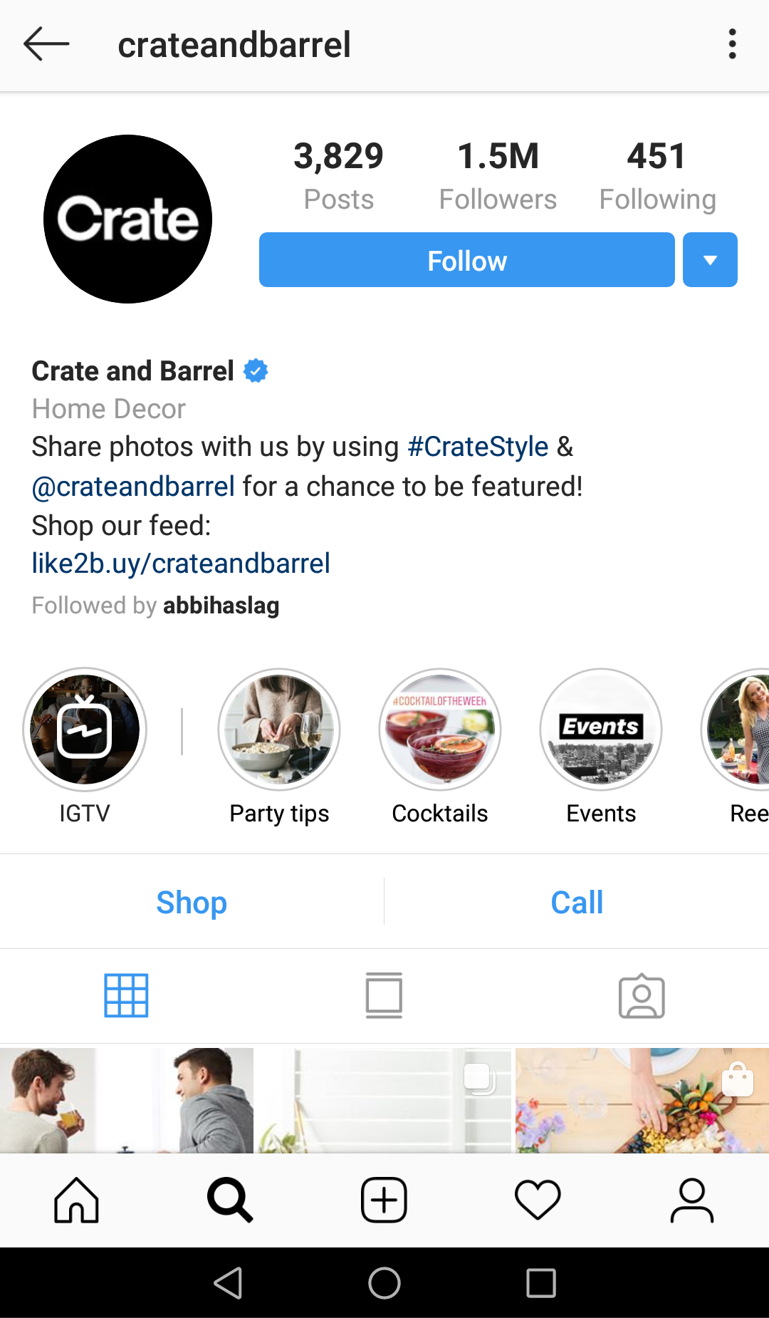 Retailers use their Instagram bios to drive business