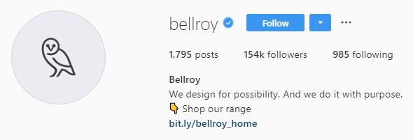 bellroy Instagram bio