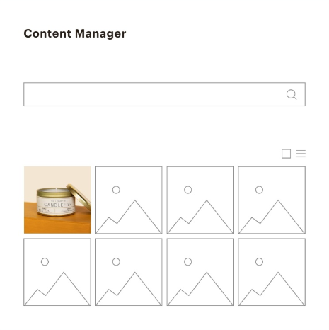 Mailchimp content manager screenshot