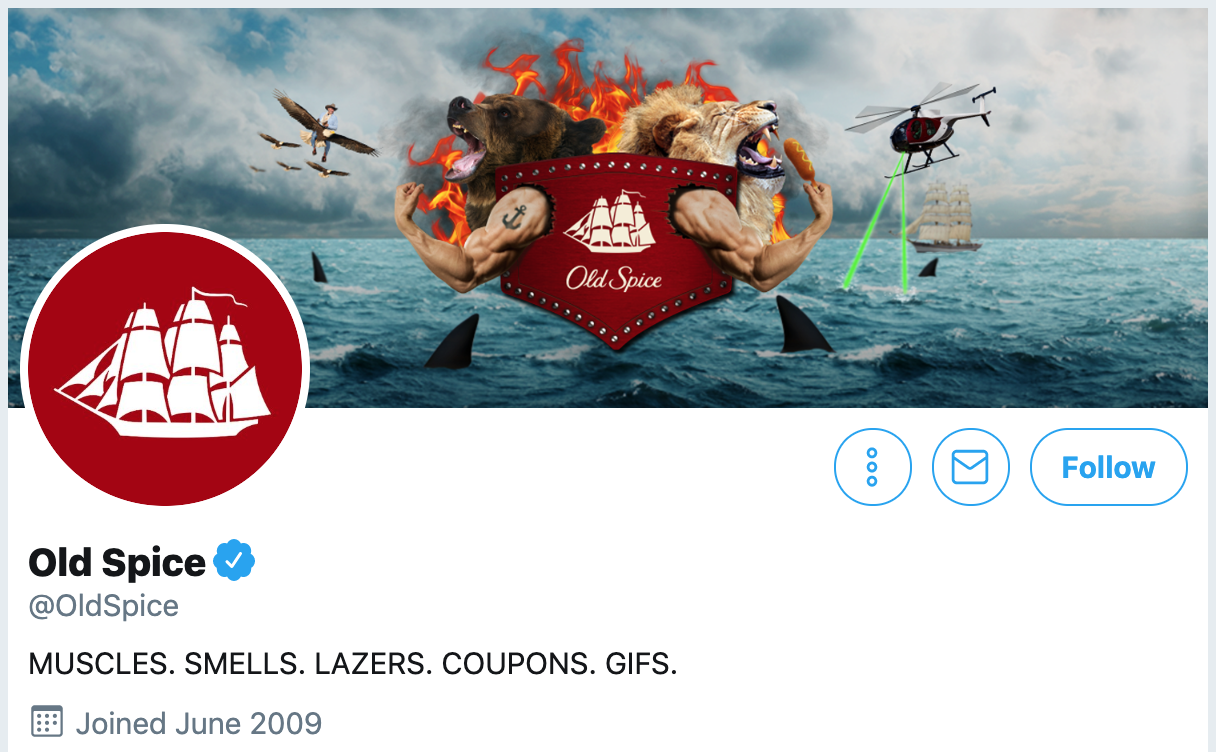 Twitter bio ideas - Old Spice