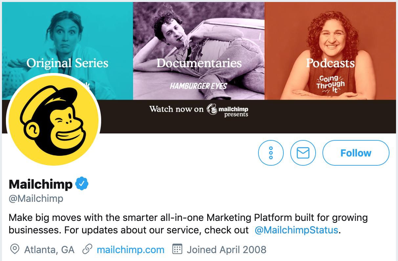 Twitter bio ideas - Mailchimp