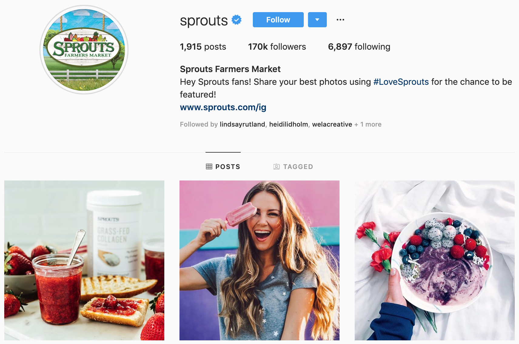 Sprouts on Instagram - Best Brands to Follow