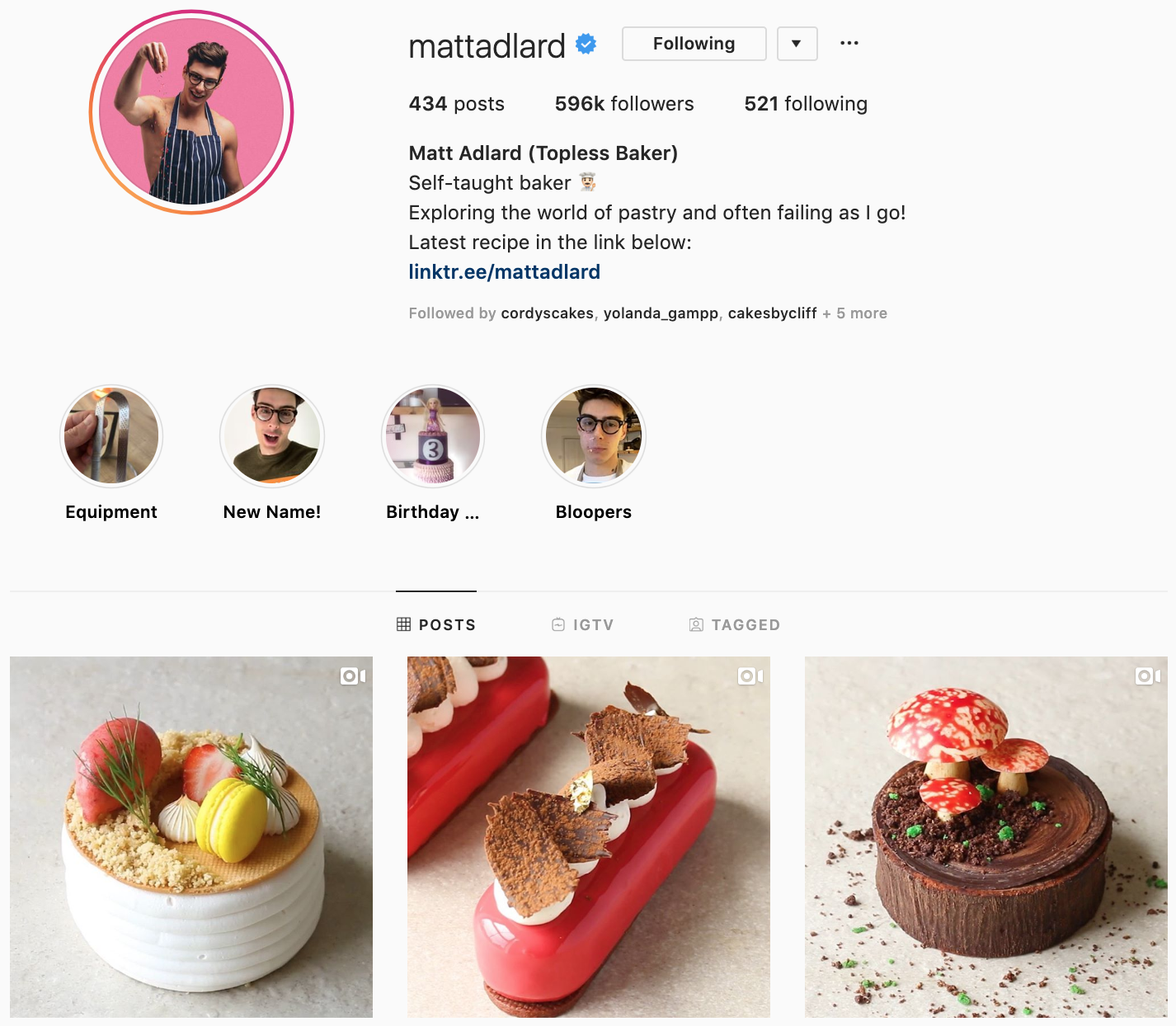 Matt Adlard on Instagram - best brands to follow