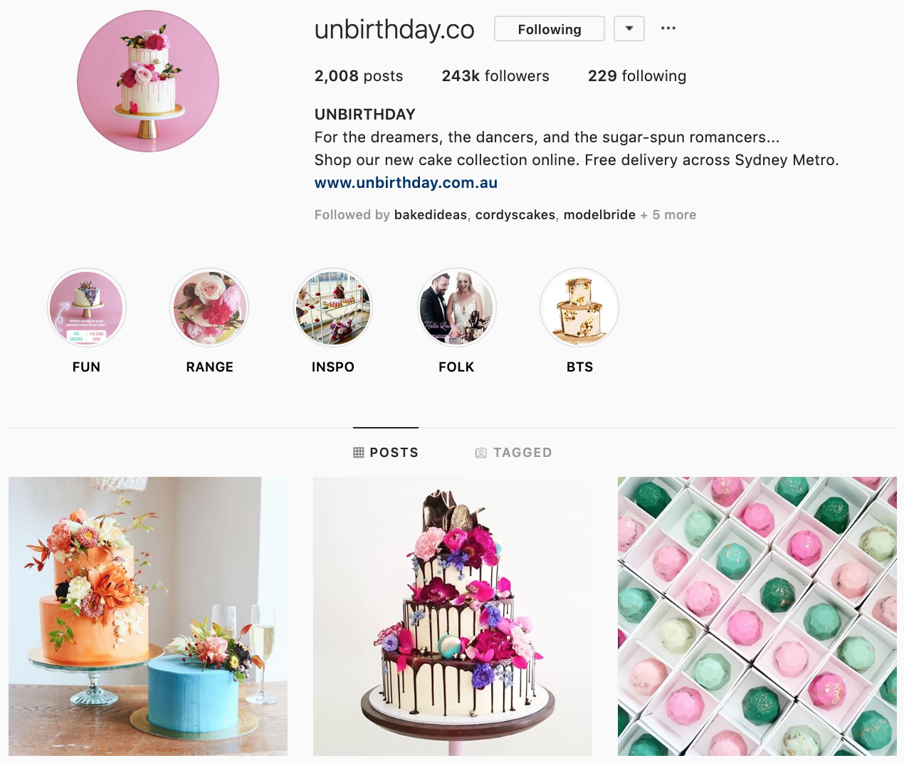 Unbirthday on Instagram - best brands to follow