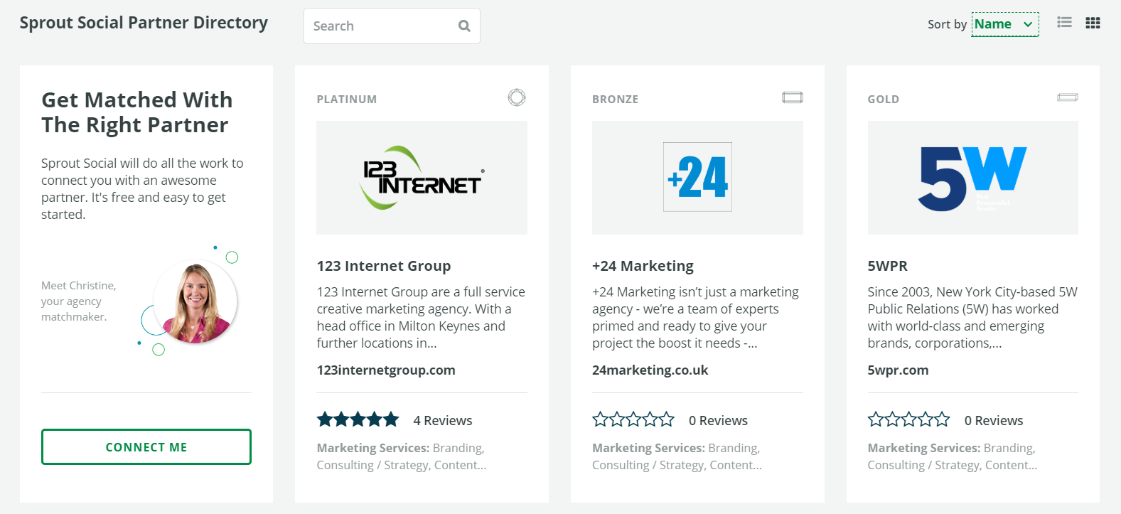 sprout social agency partner directory