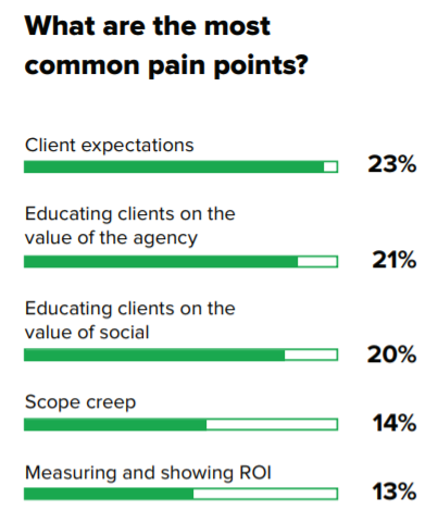 common pain points of social media marketing agencies