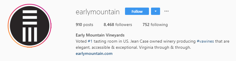 early mountain instagram bio