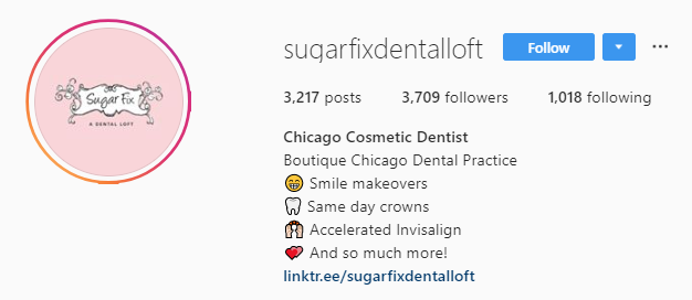 sugar fix instagram bio