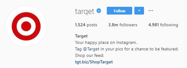target Instagram bio
