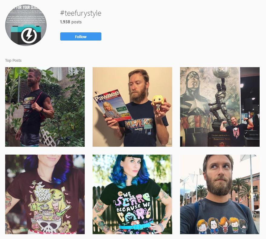 teefury instagram hashtag