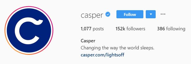 Casper Instagram logo