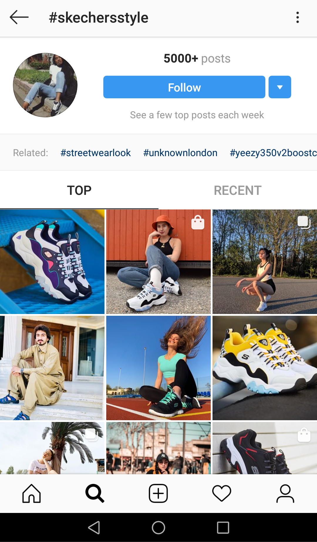 Skechers Instagram hashtag