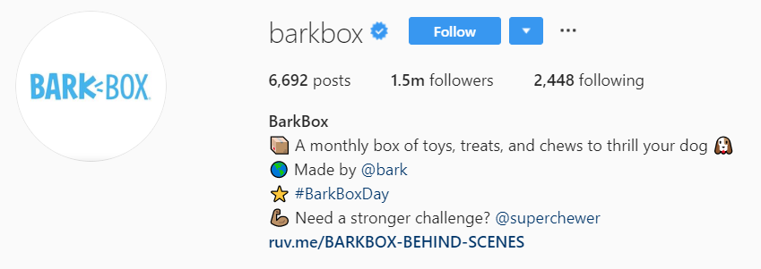 Barkbox Instagram profile picture