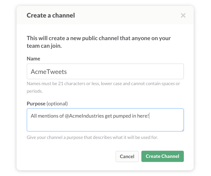 Twitter integrates with Slack to provide company updates