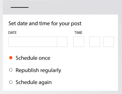 agorapulse scheduling options