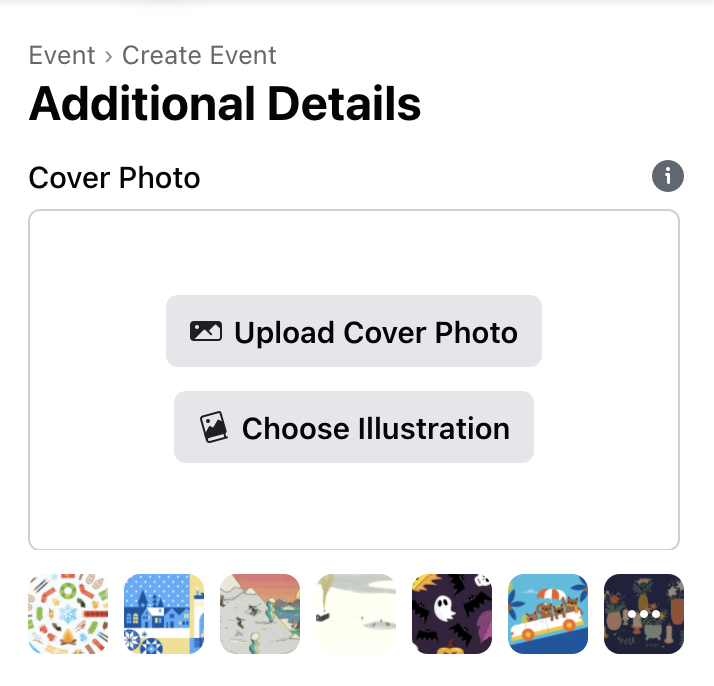 Adding a Facebook Event Cover Image Options