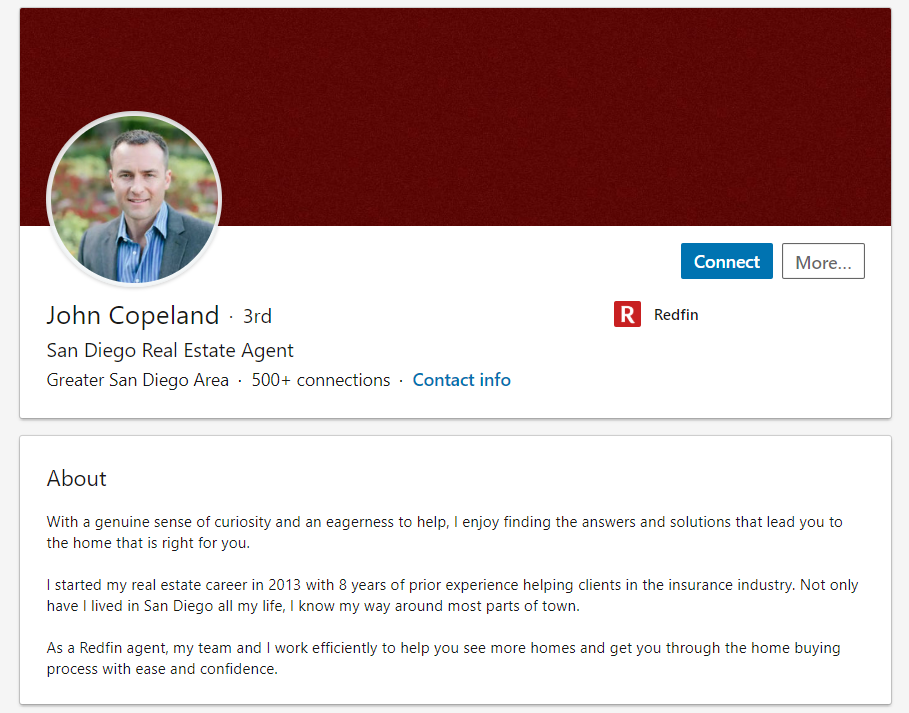 LinkedIn is less about getting in touch with specific clients but rather showing off your expertise