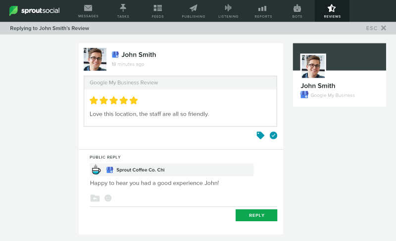Sprout's New Review Management Tool Helps You Strengthen